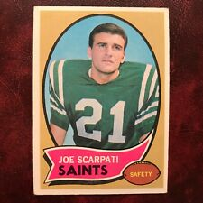 1970 Topps Set JOE SCARPATI #193 NEW ORLEANS SAINTS - EX