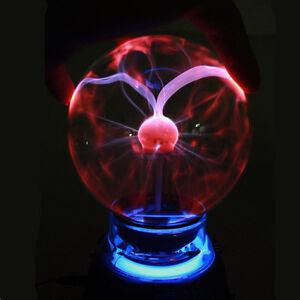 Music Sound Sensored Plasma Ball Sphere Night Light Lamp Lighting Magic Lamp