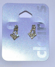 Claire's Crystal Butterfly Drop/Dangle Costume Earrings