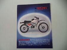 advertising Pubblicità 1976 MOTO TESTI CARABO 50