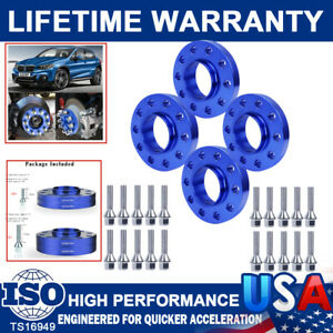 5x120 Staggered Wheel Spacers Kit (2) 15mm& (2) 20mm With Extended Bolts For BMW