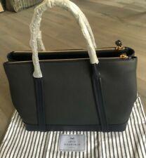 Anya Hindmarch Ebury Zipped Tote In Marine Mini Grain Leather Brand New RRP £995