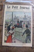 Petit journal illustré N°617 1902 Raid Bruxelles Ostende Lutte contre un serpent