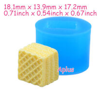 QEB405 18.1mm 3D Waffer Wafer Cookie Mold Waffle Biscuit Mold Resin Fake Food