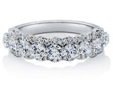 Anniversary Half Eternity Ring Sterling Silver Aaaa Cubic Zirconia
