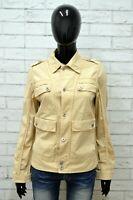 Giubbino LIU JO Donna Taglia Size 46 Giubbotto Giacca Jacket Woman Beige Cotone