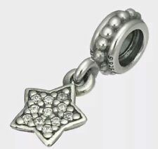 b91d1bf59 Genuine Pandora Sterling Silver Dangle Star Pave Clear CZ Bead 791024CZ