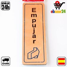 Señal AUTOADHESIVA empujar  placa pegatina puerta bar *Envío GRATIS desde España