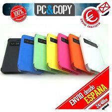 FUNDA LIBRO TAPA CON VENTANA IPHONE 4 4S FLIP COVER BOOK COLOR/TEMPLADO/TOALLITA