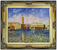 Framed Oil Painting Repro Renoir, Pierre-Auguste Doges Palace 20x24in