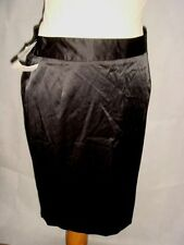 Satin Patternless Formal Skirts for Women
