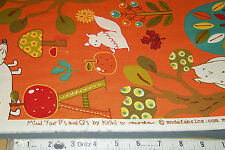 Moda Mind Your Ps & Qs Quilt Fabric by Keiki  32710 15 Tangerine Fun Fabric