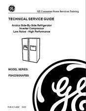 One Of Various GE Refrigerator Service & Repair Manuals