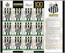 2012 100° Anniversario del Santos Futebol Clube Foglietto San Marino MF2360