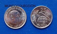 MONEDA DE 25 pesetas 1957 *69 Franco S/C / SPAIN km 787 UNC