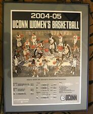 Uconn Huskies framed Women's signed basketball poster 2004/2005
