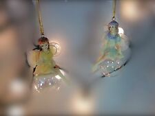 Gisela Graham Pastel Acrylic Ballerina Fairy on a Ball Christmas Tree Dec 8cm C