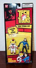 2004 DC COMICS BANDAI TEEN TITANS MAS & AQUALAD ACTION FIGURE 2 PACK MOC