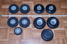RC Airplane Wheels 4 Pairs, 2 Nose / Tail. Lots of Wheels x10 New & Used!