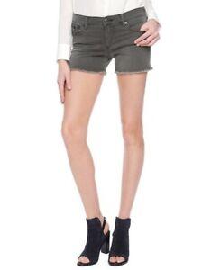 True Religion Women's Keira Low Rise Cut Off Shorts Grand Ave Grey WDDC028MI1