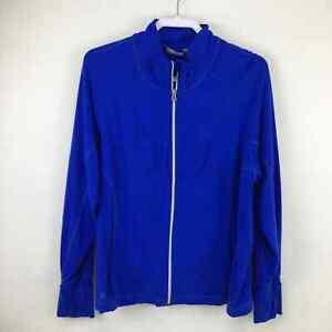 Athleta Hope 2 Blue 2x Full Zip Running Seamed Jacket #721863