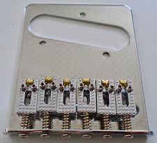 NEW Bridge TELECASTER chrome - FUN -saddles roller - single coil - guitare tele