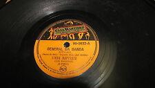 LINDA BAPTISTA BRAZIL VICTOR 78 RPM RECORD 80-0632A MAO DE PIXE / GENERAL BANDA