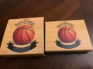 2020 Basketball HOF Colorized Silver Dollar and Half Dollar Set w/ OGP, COA