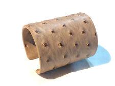 Bijou bracelet manchette cuir d'autruche