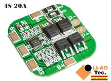 4S 14.8V / 16.8V 20A Peak Li-ion BMS PCM 18650 Battery Protection Board