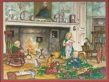NEW Tasha Tudor Amer Artist Group Caspari Christmas Card MINT Condition Children