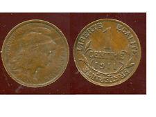 FRANCE FRANCIA 1 centime DUPUIS 1911 ( bis )