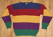 vintage men's CHAPS RALPH LAUREN POLO sweater COLORBLOCK size MEDIUM/LARGE