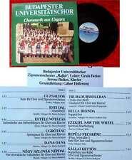 LP Budapester Universitätschor: Chormusik aus Ungarn