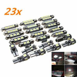 23pc LED Canbus Car Interior Light Dome Trunk Map License Plate Lamp Bulb SN22