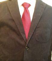 NWT Hardy Amies London Brinsley Fit Unstructured Cotton Blend Black Blazer 38R
