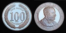 Jeton Louis Pasteur 100° ans d'Anniversaire. 1995. Argent 925°-15,3 gr