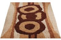 Mid Century Danish Modern Rya Style Shag Rug / Abstract Mod Area Carpet (8X10)
