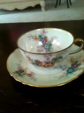Marshall Field Antique Porcelain china cup and saucer by Limoges France