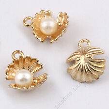 Charms Shell Imitation pearl Pendant Beads Jewelry Making Small Pendants 1035H
