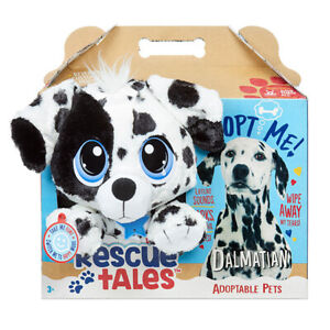 Rescue Tales Adoptable Pets DALMATION DOG Interactive Plush BARKS WAGS TAIL New