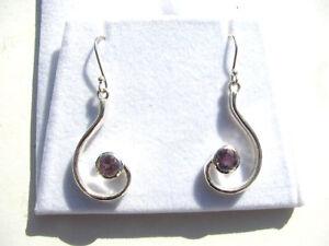 Amethyst facettiert Ohrhänger 925 Silber Amethyst Earrings Nr. E7182