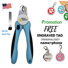 Dog Toe Nail Clippers Professional Heavy Duty Safety Guard Same day shipping