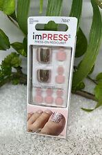 Kiss Impress Press-on Pedicure 24 Zehennägel 76647