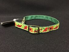 "NWT Diggidy Dog 12"" Green Floral ""Up Country"" Cat Collar"