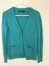 SPORTSCRAFT women's Wool Green Cardigan Button Up Jumper Xs S