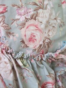 Ralph Lauren CHARLOTTE IV Green Floral Fitted Sheet Deep Pocket Sage - Queen