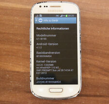 Samsung Galaxy S3 mini GT-i8190 weiß ceramic white 8GB Smartphone Android 4.1.2
