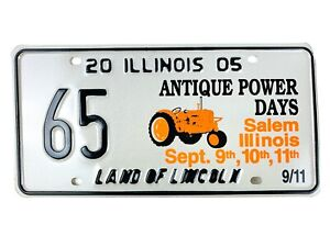 Tractor Picture License Plate Art 2005 Special Event Salem IL Man Cave Gift Wall