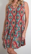 Simply Noelle Women/'s Sundress Multi Paisley